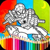 Coloring spiderman Games