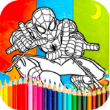 Coloring spiderman Games Icon