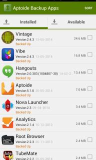 Aptoide Backup Apps screenshot 1