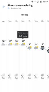 Weeronline: weer en regenradar screenshot 7