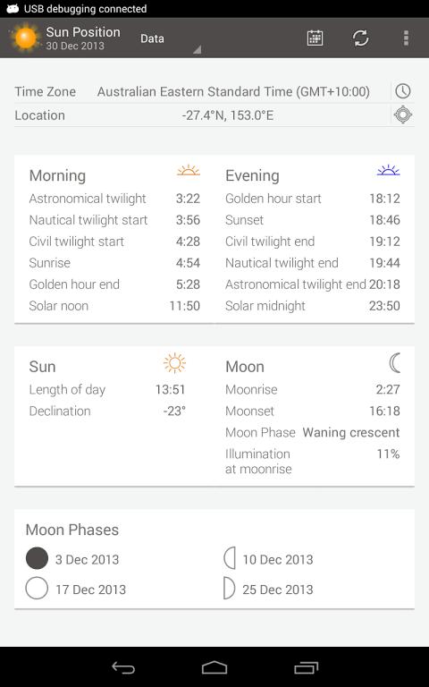 Sun Position screenshot 2