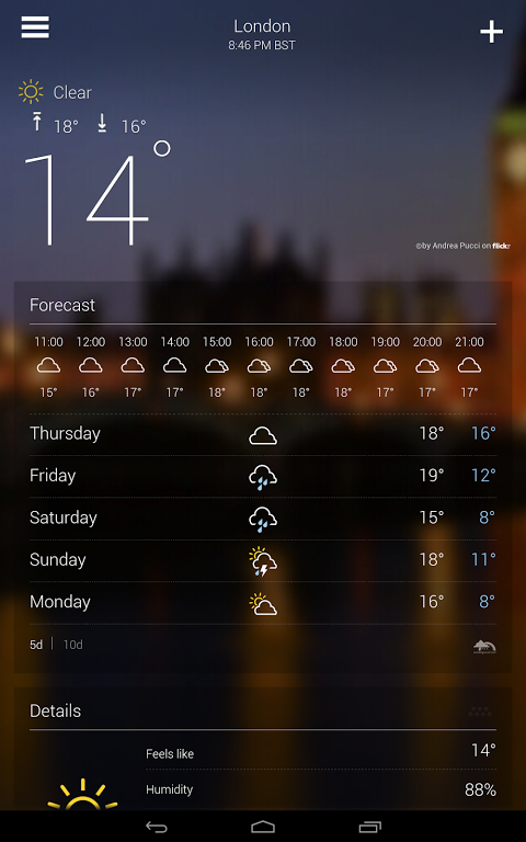 Yahoo! Weather screenshot 1