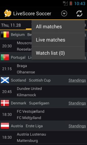 livescore football soccer 1 3 6 télécharger l apk pour android aptoide
