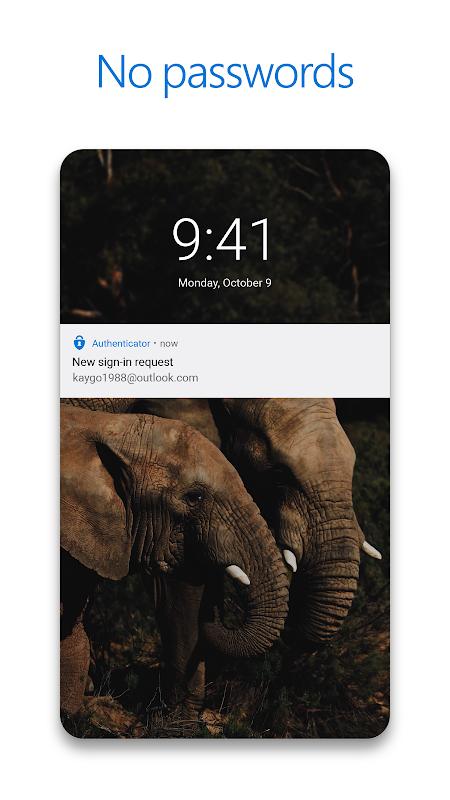 Microsoft Authenticator screenshot 2