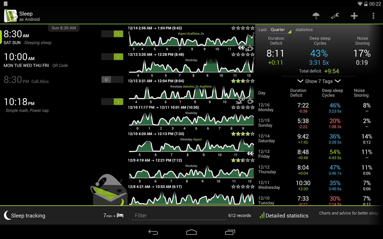 Sleep as Android screenshot 8