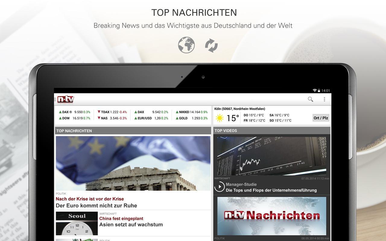 ntv Nachrichten screenshot 1