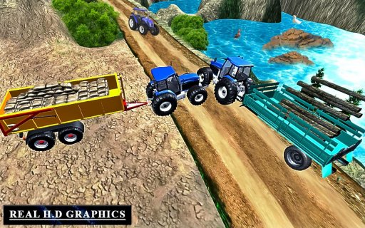Heavy Tractor Trolley Driver Simulator Game screenshot 6
