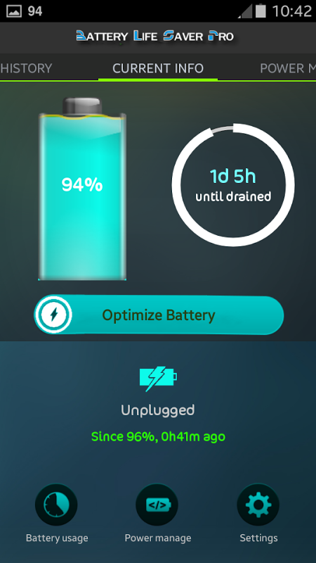 Battery Life Saver for Android screenshot 1