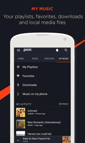 Gaana Music Hindi Tamil Telugu Mp3 Songs Online 8 0 2 Telecharger