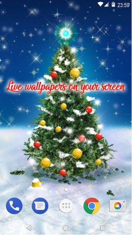 ... christmas tree wallpapers live free animated screenshot 6 ...