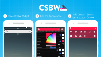 Custom Search Bar Widget CSBW Screen