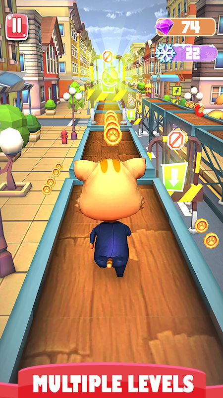 Cat and Jerry surf the subway Dash screenshot 1