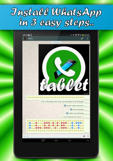 WhatsApp Tablet - 3 step
