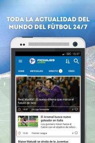 Fichajes fútbol: mercado, resultados, directo screenshot 1