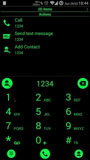 Theme for RocketDial and ExDialer Flat BGreen screenshot 1