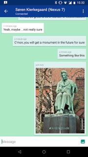 Bluetooth Chat screenshot 1