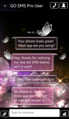 crystal butterfly for go sms_v2 9 6 2 9 6 Download APK for