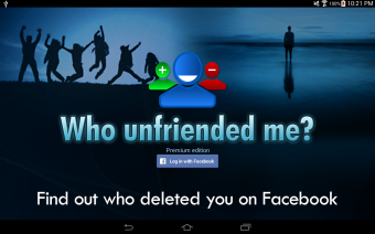 Who unfriended me? Screenshot
