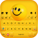 Rolling Happy Emoji Keyboard Background