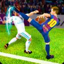 足球运动员争取