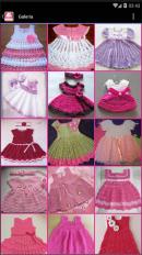 vestidos tejidos de bebe screenshot 2