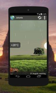 Animated Weather Widget&Clock screenshot 2