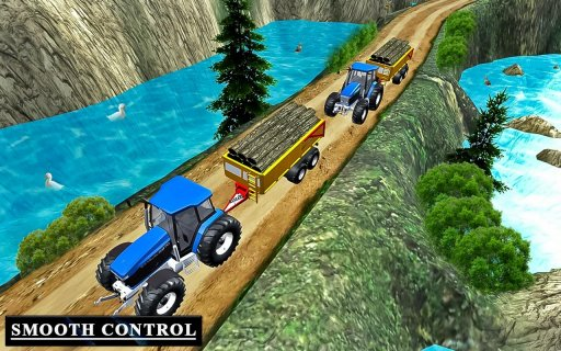 Heavy Tractor Trolley Driver Simulator Game screenshot 1