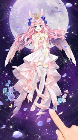 Anime Angel Girl Live Wallpaper Screenshot 2