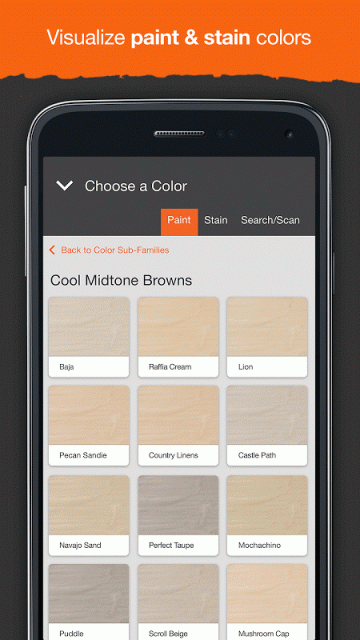 Galerry home depot project color app