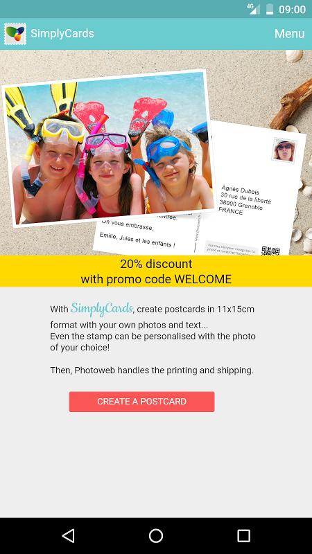 SimplyCards - Real Postcard screenshot 1