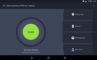 AntiVirus PRO Android Security Screenshot