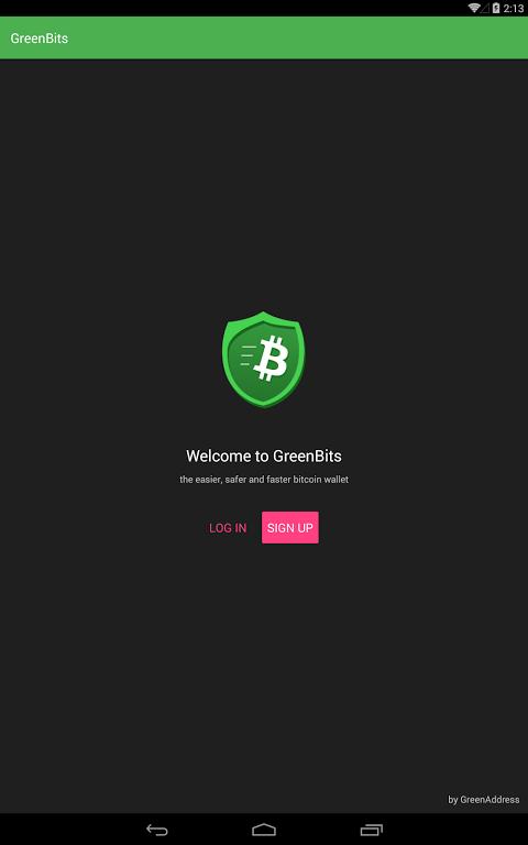 GreenBits Bitcoin Wallet screenshot 3
