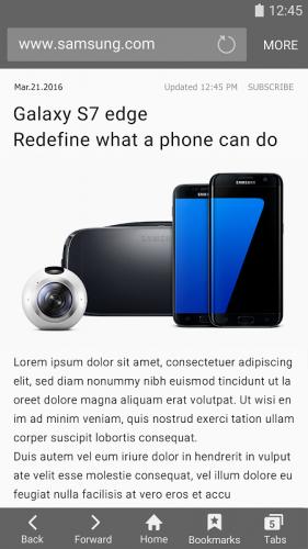 Samsung Internet Browser screenshot 1