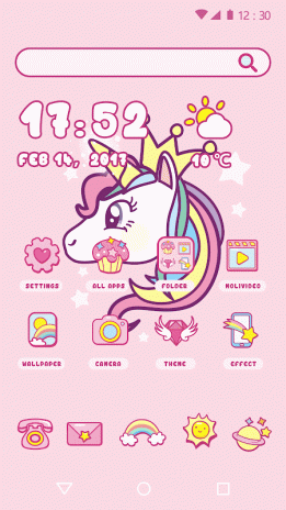 cartoon theme cute unicorn 1 0 1 download apk for android aptoide