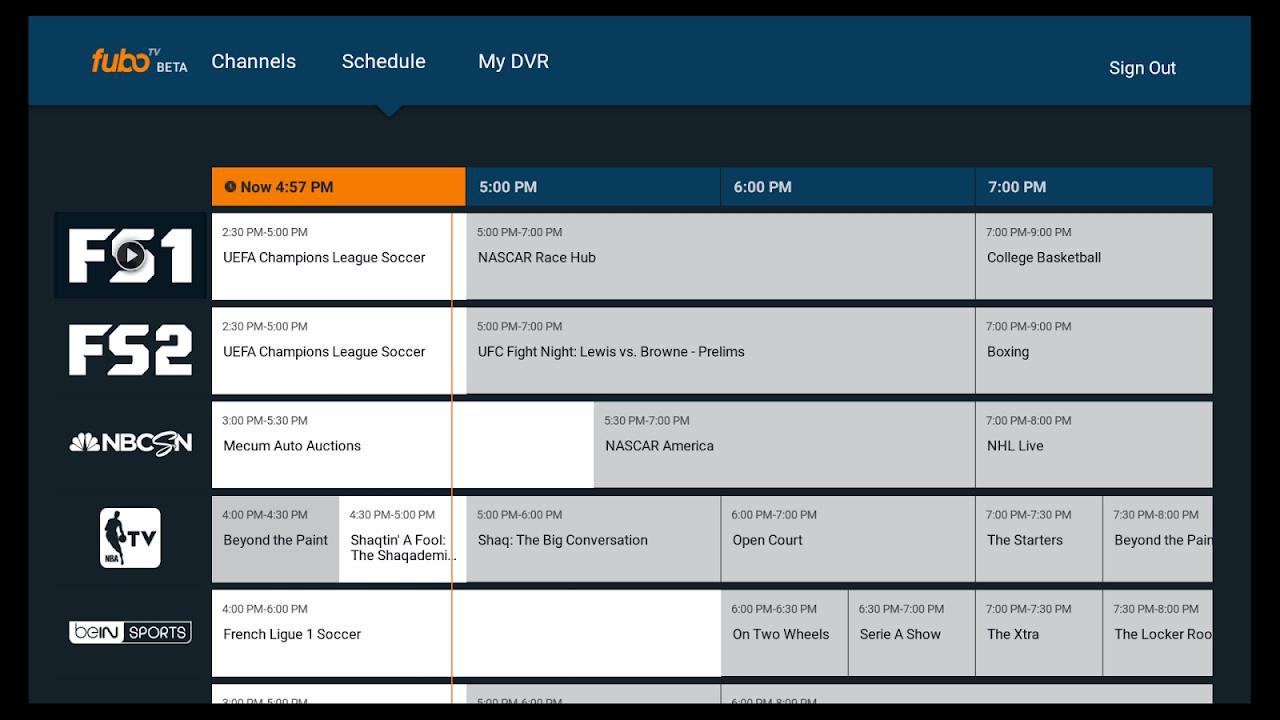fuboTV - Live Sports and TV screenshot 1