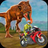 Sim corrida de moto dino world Icon