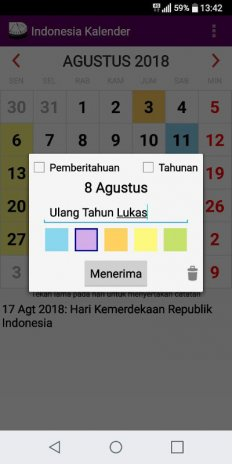 indonesia 2018 national holidays calendar screenshot 1 indonesia 2018 national holidays calendar screenshot 2