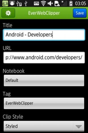 EverWebClipper for Evernote 2 0 7 Download APK for Android