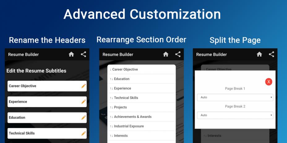 Curriculum Vitae App Cv Builder Resume Cv Maker 6 14