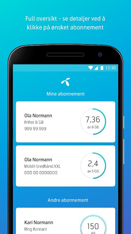 Mitt Telenor screenshot 1