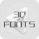 3D Font for FlipFont , Cool Fonts Text Free