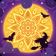 Coloring Book 2017 Happy Halloween Icon