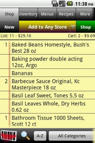grocery tracker shopping list 11 0 download apk for android aptoide