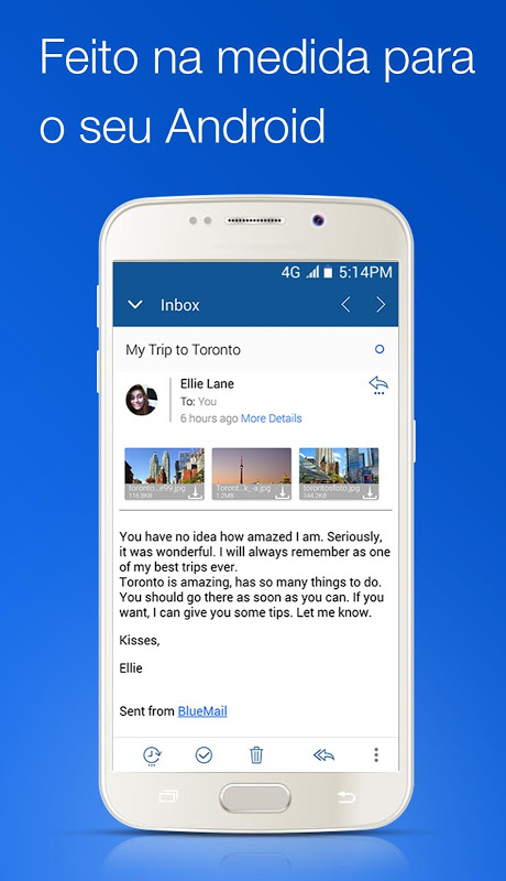 Blue Mail - Email Mailbox screenshot 2