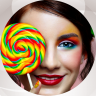 Lollipop Photo Collage Icon