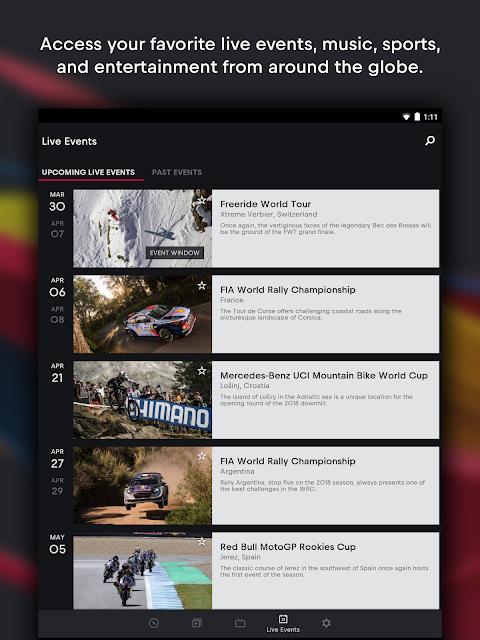 Red Bull TV: Live Sports, Music & Entertainment screenshot 2
