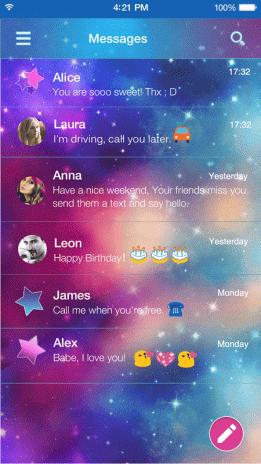 Rainbow Galaxy Emoji Keyboard Screenshot 4