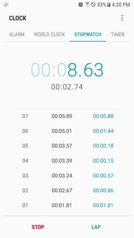 Samsung Clock screenshot 4