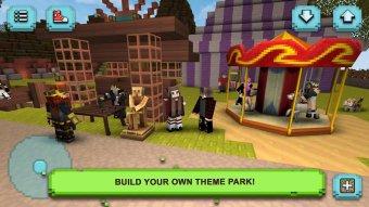 Theme Park Craft: Build & Ride Screenshot