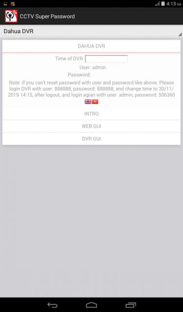 Dahua Dvr Password